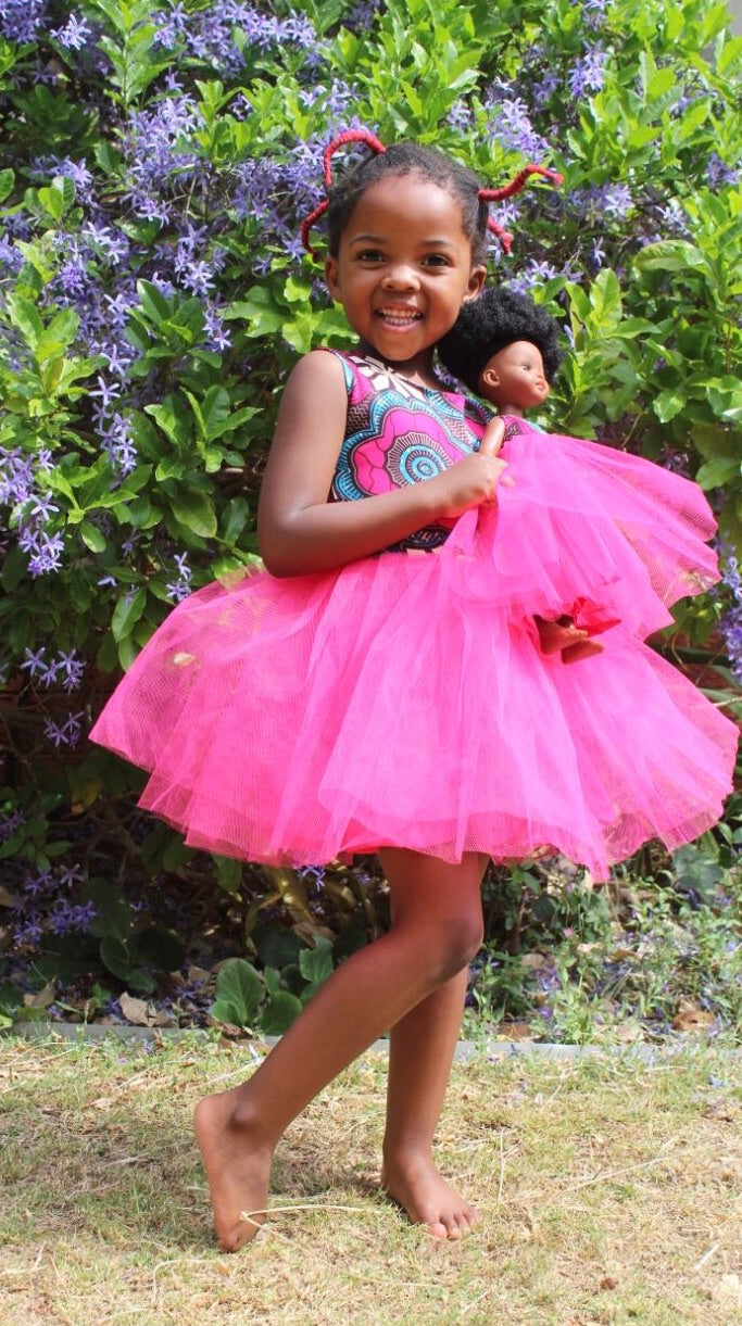 Bontle Doll +  Print Doll and Child Tutu Dresses