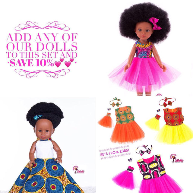NOBUHLE DOLL +  Print Doll + Child Tutu Dresses