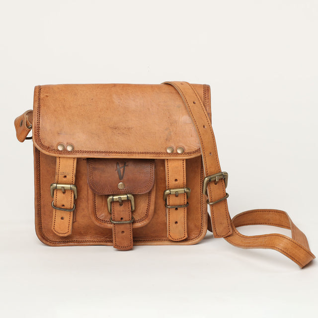 vintage shoulder leather bag