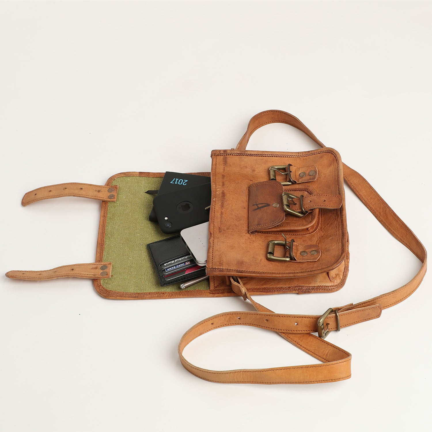 Shoulder Satchel Small - leather bags