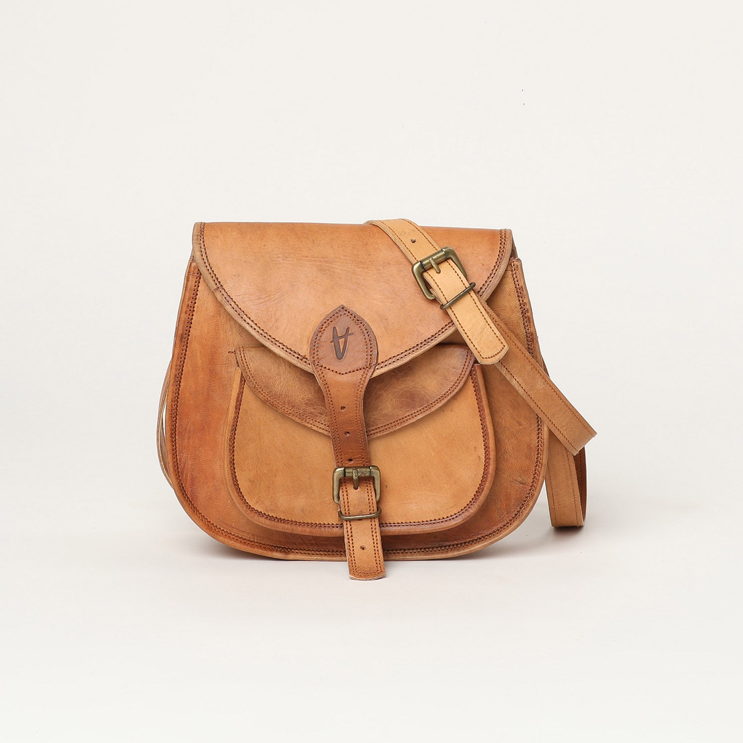 Cross body bag large - leather bags