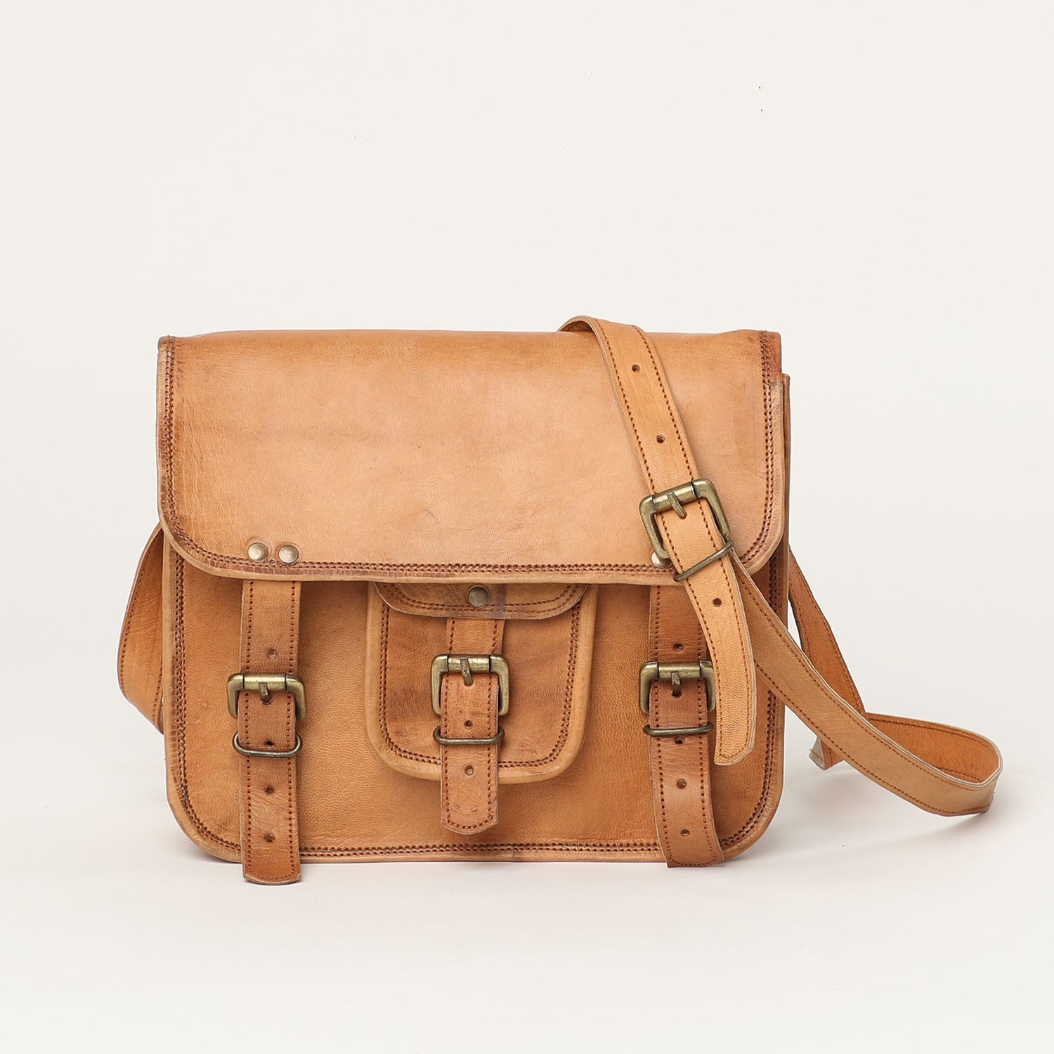 Shoulder Satchel Large - leather bags
