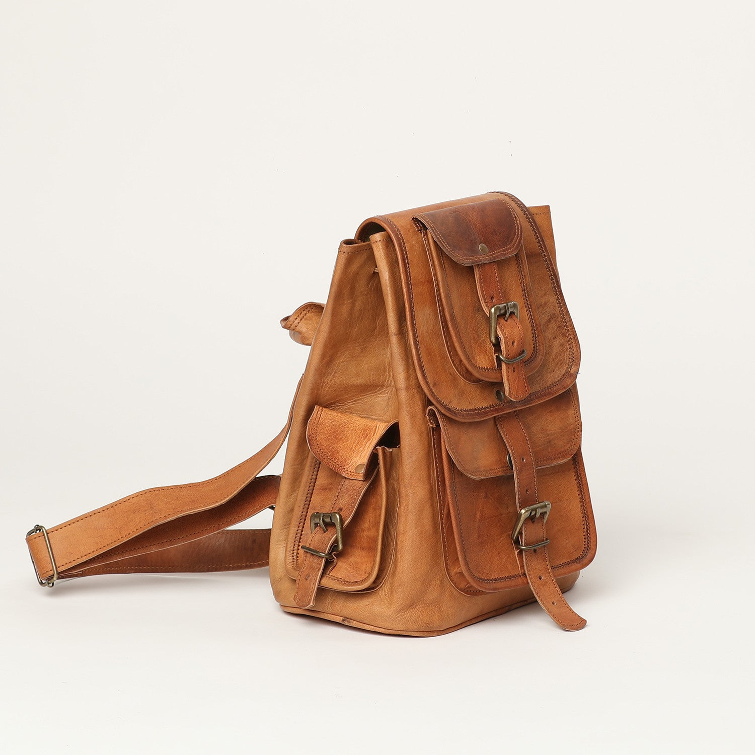 Backpack small - leather bags