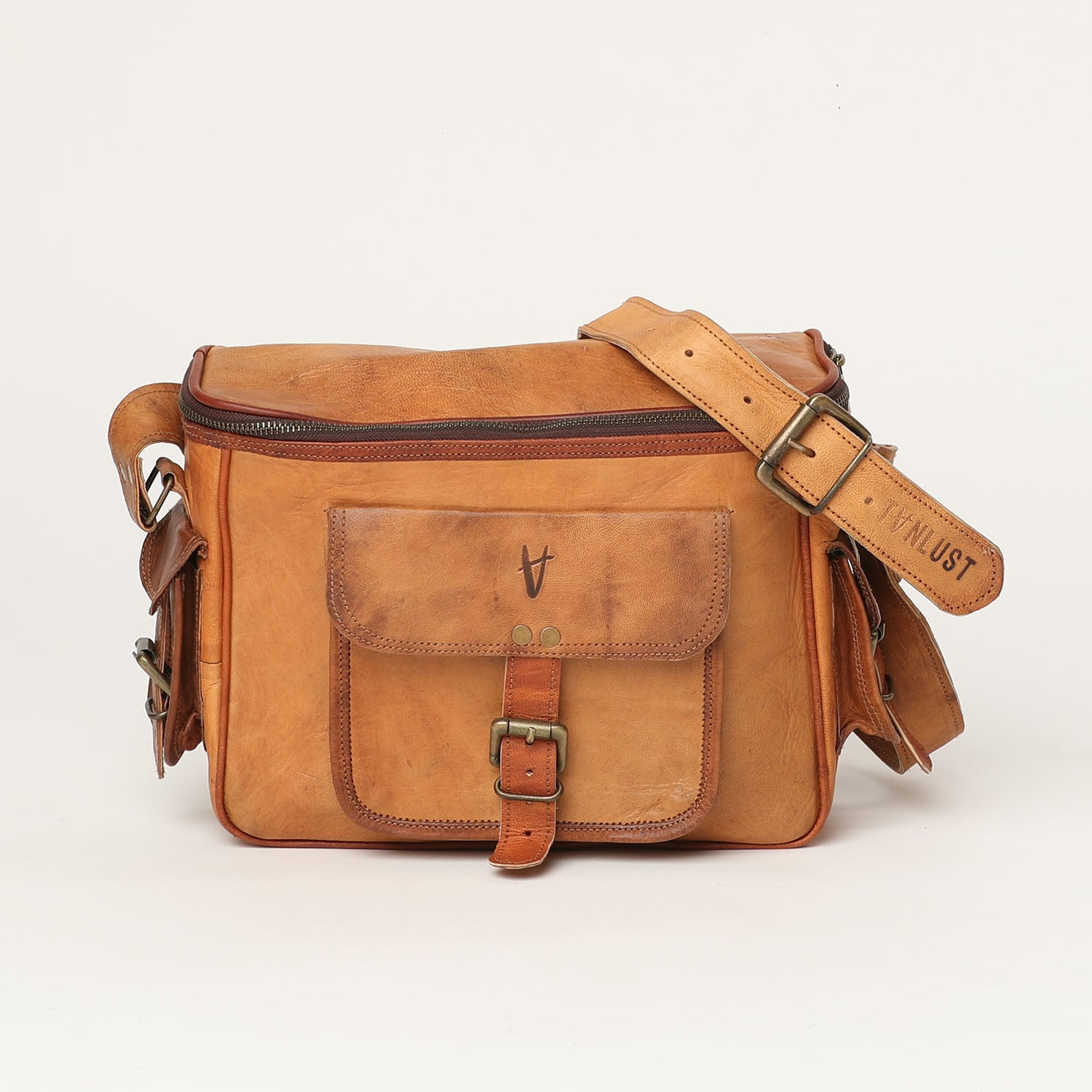 camera leather bag