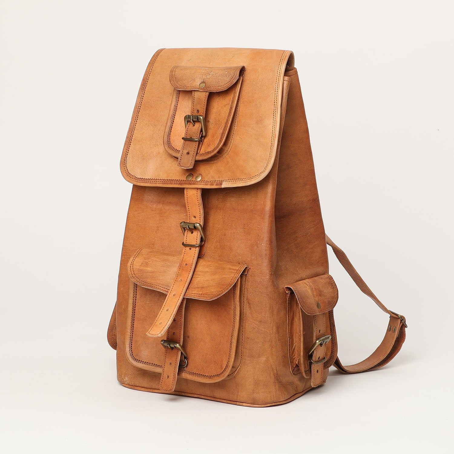 Backpack large - leather bags