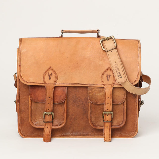 messenger laptop leather handbag