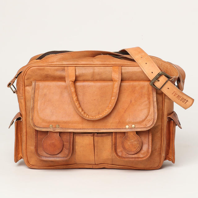 handcrafted office leather bag
