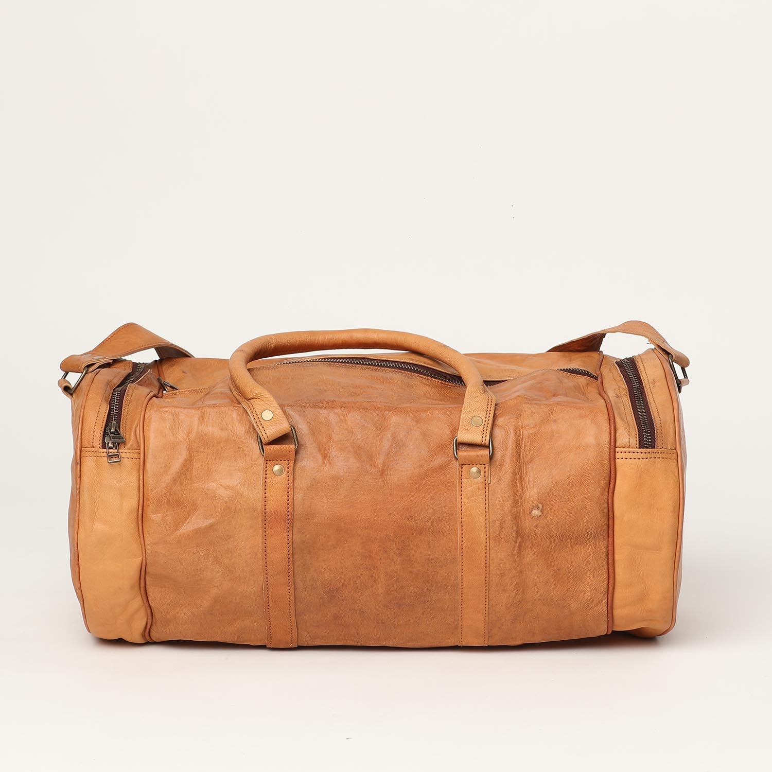 Travelling Bag Round - leather bags
