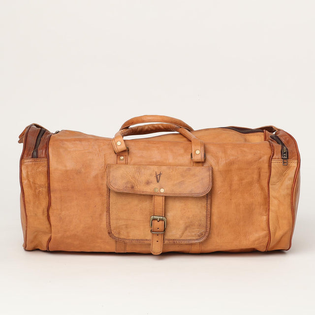 travelling leather sports bag
