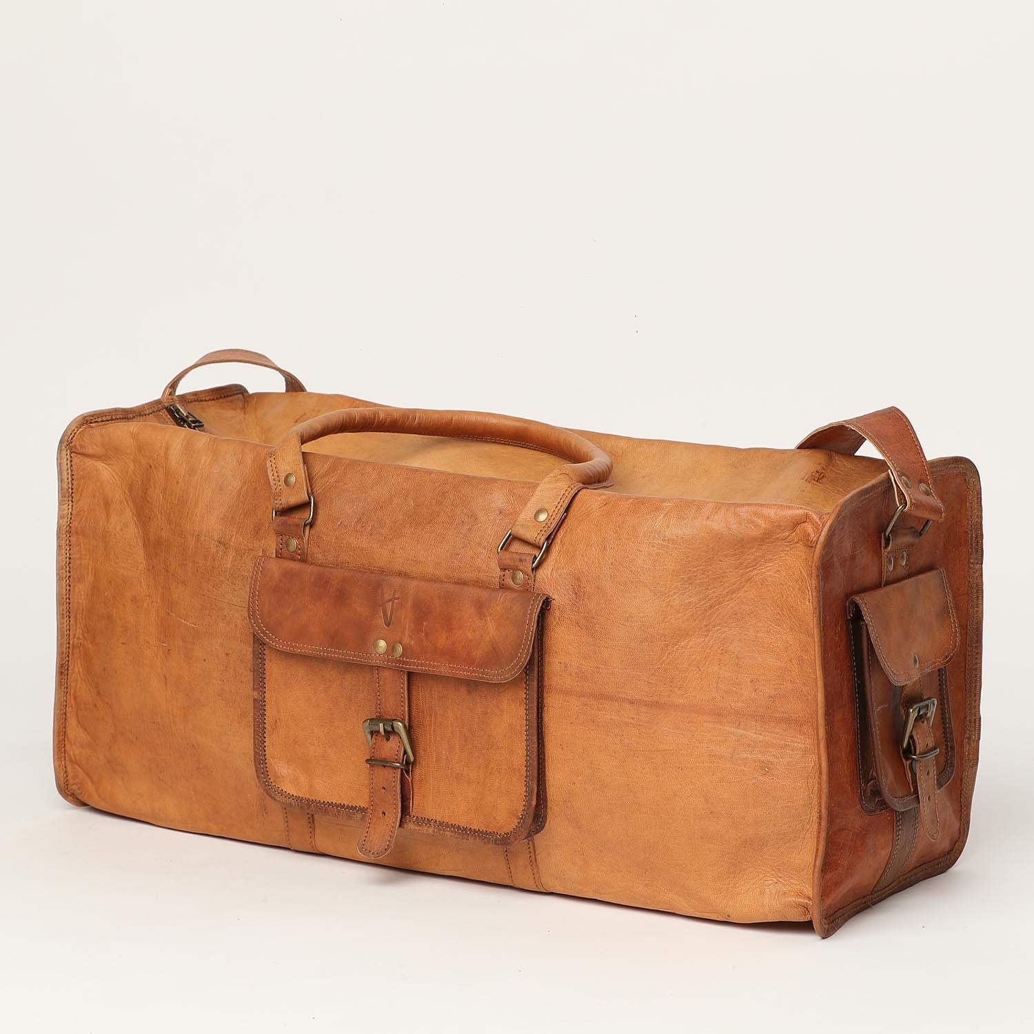 Travelling Bag Rectangle - leather bags