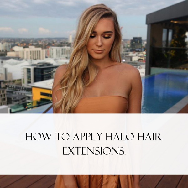 How to apply halo hair extensions