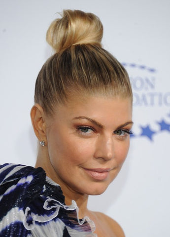 The top knot is a timeless, easy hairstyle for work.