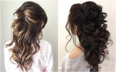 The half-up, half-down updo is an easy hairstyle for work.