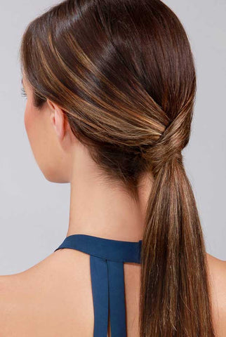 The twisted ponytail is a gorgeous, easy hairstyle work.