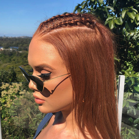 Braided Half up and down is a simple but cute hairstyle