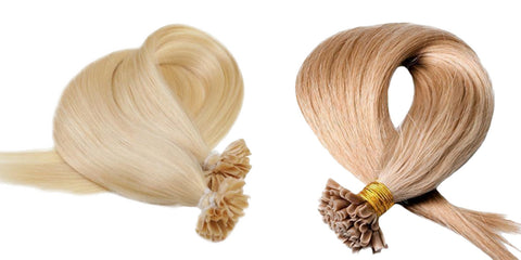 Fusion hair extensions are ideal if you like to wear your hair up high, exercise or swim regularly, as the bonds are very small, discreet and flexible.