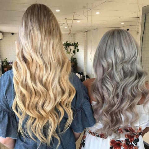 The beach waves are among the easiest hairstyles for long hair extensions.