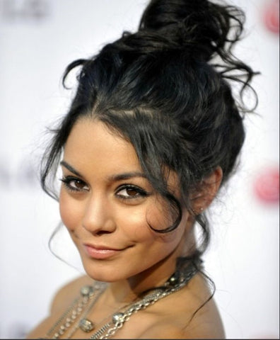 Vanessa Hudgens Messy Bun Tutorial Using Hair Extensions