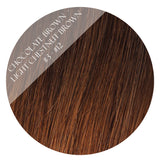 Chocolate Brown - Light Chestnut Brown #3/12 Kiki Clip-In Hair Extensions