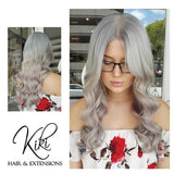 grey storm clip in hair extensions 26inch classic