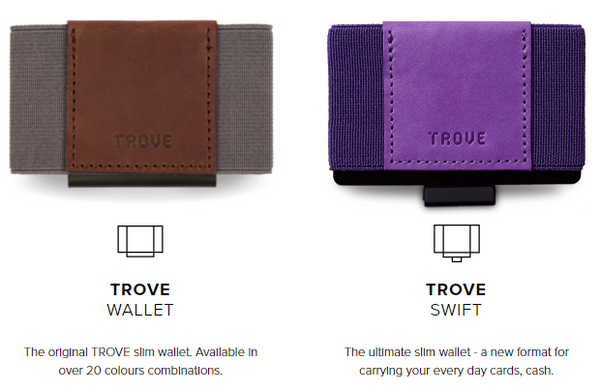TROVE Reflex and Swift Wallets