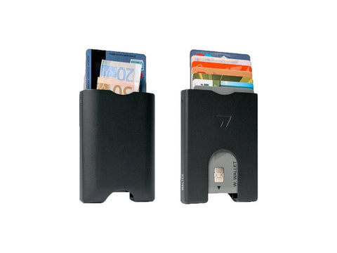 Walter Wallets - Matte Black aluminium - Walletery