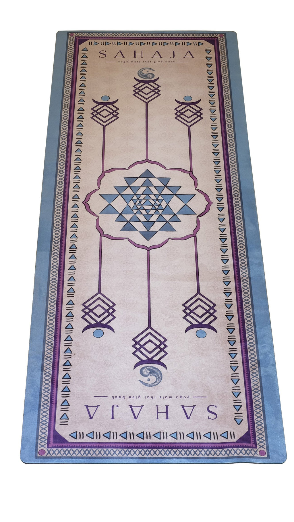 Sahaja yoga mats. Best printed yoga mats all based on scared geometry and are limited edition yoga mats that give back.