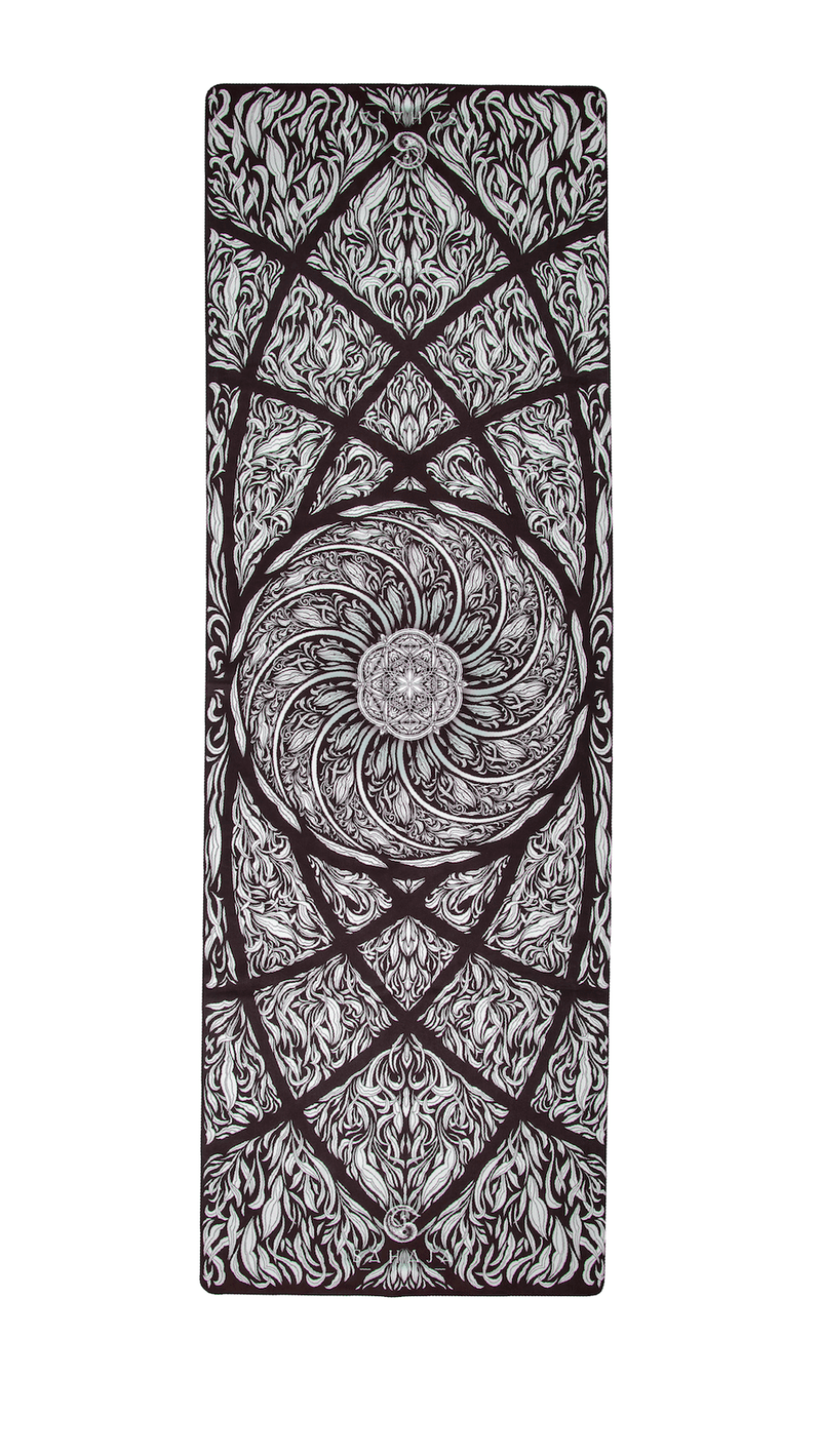 Fibonacci Spirals Travel Yoga Mat