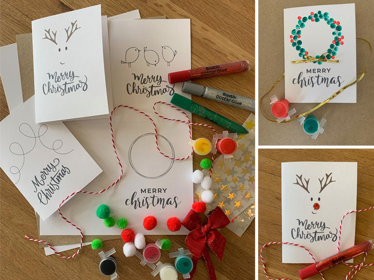 Printable Christmas cards, tags and wrapping paper