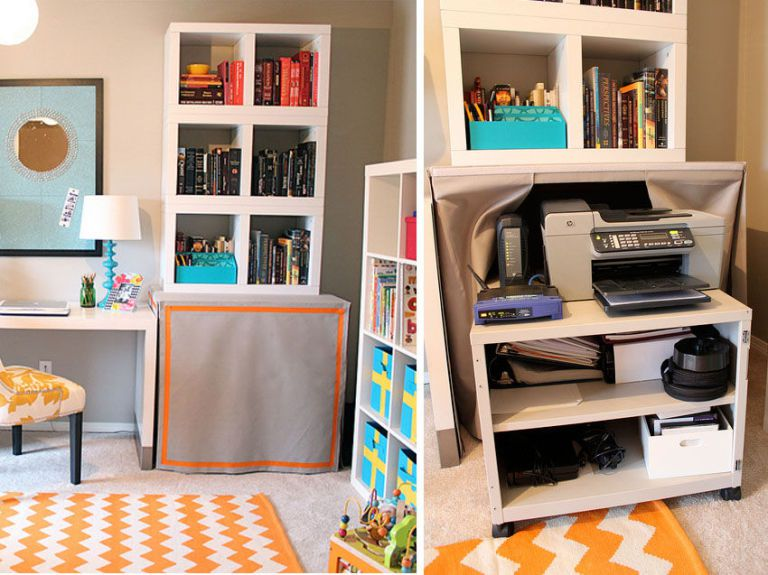 Home Office Ideas: How To Hide Your Printer