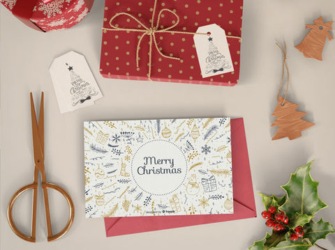 Christmas printable cards, gift tags and wrapping paper