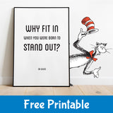 Free Printable Dr Seuss Saying