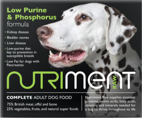 Nutriment Low Purine & Phosphorus Formula for Adult Dogs, 500g