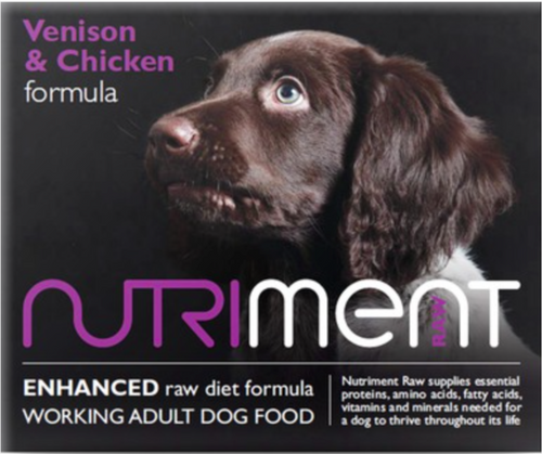 Nutriment Venison and Chicken Formula for Adult Dogs 500g