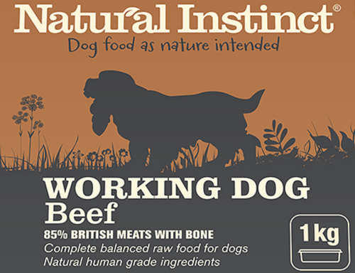 Natural Instinct Working Dog BEEF with chicken 1kg