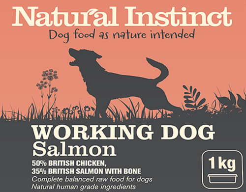 Natural Instinct Working Dog SALMON and chicken 1kg
