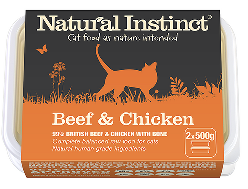 Natural Instinct Cat Beef And Chicken 2 x 500g