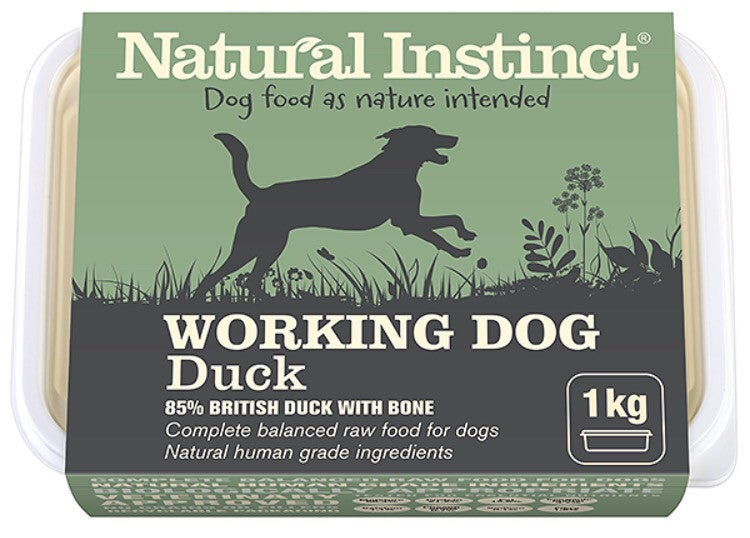 Natural Instinct Working Dog Duck 1kg