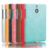PU Leather Case For Blackberry Passport Silver Edition Hard Protective Shell Back Cover Fashion Alligator Pattern Shock Proof
