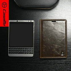 CaseMe For Blackberry Passport 2 Case Luxury R64 Leather Stand Magnetic Wallet Phone Cover with Card Holder for blackberry New