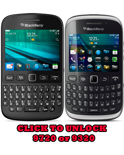 Unlock Blackberry 9720/9320