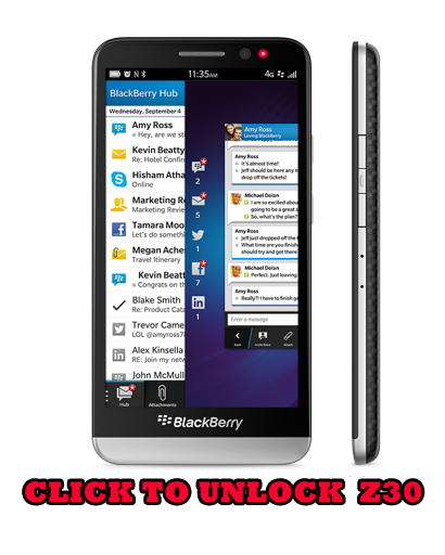 Unlock Blackberry Z30