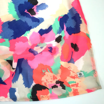 Neon Abstract Floral Swaddle Wrap Blanket - Blues