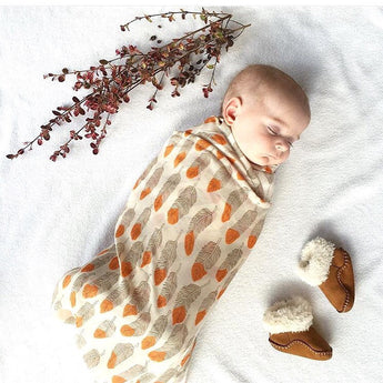 Feather Swaddle Wrap Blanket