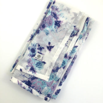 Watercolour Floral Swaddle Wrap Blanket