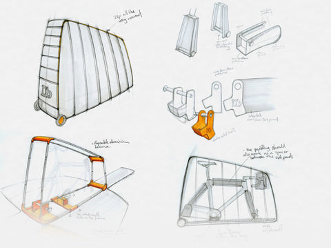 Design story sketch - Douchebags Bike Bag