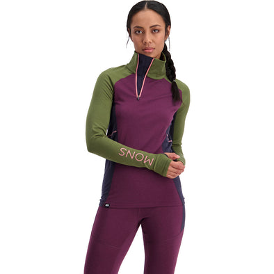 Women's Olympus 3.0 Half Zip - Blackberry/Avocado