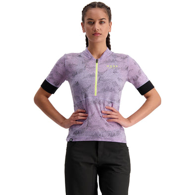 Mons Royale Women's Cadence Half Zip - Lilac Micro