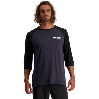 Mons Royale Tarn Freeride Raglan 3/4 - Black / 9 Iron