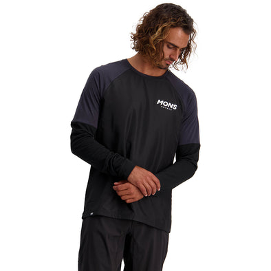 Tarn Freeride LS Wind Jersey - Black / 9 Iron